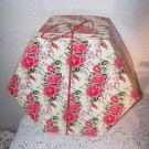 Vintage Hat Box Roses Pinks Authentic Original Mad Men Romantic Prairie Country
