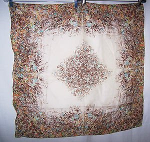 Vintage Scarf 2pc Paris Designs Made Japan Hand Rolled Water Repel Incredible 30