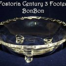 Vintage Fostoria Century Elegant Glass Bon Bon 3 Footed Ex Condition Regency SEE