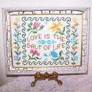 Handcraft NeedleWork Cross Stitch Love is the Salt of Life Country Shab Chic Vtg
