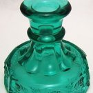 Vintage Westmoreland Paneled Grape Laurel Green Candlestick Teal Romantic Prairi