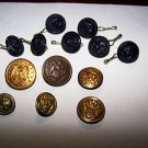 Vintage Military Buttons Variety Lot 13 pcs Art Craft Sewing Project Costume