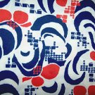 Vintage Fabric 1960s - 70s Polyester Knit Clean Unused MOD Retro OP Art 35 x 64