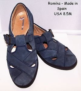 Romika Shoes Comfort Footbed Leather Spain ExCondition Casual Low Heel Sole 8.5M