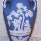 Vintage Vases 2 Wedgwood Blue Color Occupied Japan Jasperware Romantic Prairie