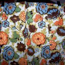 Vintage 1960 70s Retro 2 Curtain Panels 60 x 44 Cotton Ex Cond Flower Power 1970