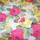 Vintage Fabric Design Cotton Textile Roses UnUsed Cottage Romantic Prair 54 x 92