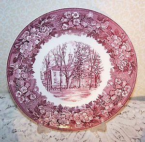 Vintage Wedgwood Collectors Plate Albion College Robinson Hall English Transfer