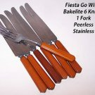Vintage Bakelite Flatware Fiesta Go Withs Peerless Stainless Cutlery Catlin RARE