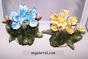Vintage Capodimonte Naples Italy Handmade Flowers Italian Art Porcelain Romantic