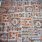 "Vintage Fabric 1950s 60s Mad Men 44"" x 3 yds Unused Mid Century Silky ish NOS"