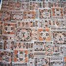 "Vintage Fabric 1950s 60s Mad Men 44"" x 3 yds Unused Mid Century Silky ish NOS"