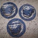 Vintage Salem English Village Staffordshire 3 Cups Sauc Romantic Prairie Cottage
