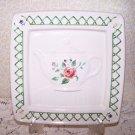 PFALTZGRAFF Garden Trellis Tea Pot Plaque Romantic Prairie Country Chic Cottage