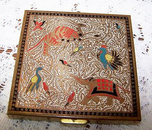 Vintage Compact Volupte Animals 1920s 30s Eastern Persian Theme Auntie Mame L@@K