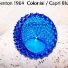 Vintage Fenton Hobnail Colonial Blue Ball Awesome LED Tea Light Accent #3648 SEE