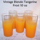 Blendo Drinking Glasses Vintage West Virginia Glass Tangerine Mid Century MOD