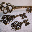 Vintage Key Décor DART 3pc Renaissance Medieval Wedding Castle Paris Apt Regency