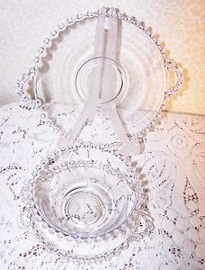 Candlewick Crystal Imperial Glass Vintage 1936 RARE 8 pcs Several SCARCE Pieces