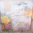 Wedding Engagement Napkins Bridal Roses Yellow Pink 5 pkg 16pc Ea Romantic Chic