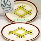 Knowles Santa Monica RARE Chartreuse Diamond Design Vintage Mad Men Mid Centu MO