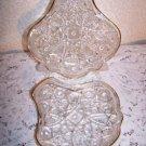EAPG Fentec McKee 2 Relish 1 Bowl 2 Clover Shell 1 Sugar 1904   ~LOT 6 pieces~