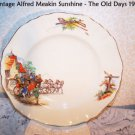 J G Meakin Sunsihine 1909 The Old Days Plate England Carriage EXTREMELY RARE
