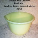 Vinatage Hamilton Beach Mixing Bowl Custard Yelo Fenton Retro1940s 1Qt