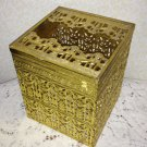 Vintage Tissue Box Cover Kleenex Ormolu Hollywood Regency Paris Chic Stylebuilt