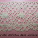 Vintage Lace Cotton Crochet Trim Antique Homespun Suttler Civil War Re Enactor