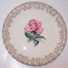 Vintage Rose Plate American Limoges Le Fluer Rouge Romantic Prairie Cottage Chic