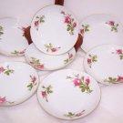 """Vintage Rose Moss Bowls 7.5"""" Japan 7pcs Romantic Prairie Country Chic Cottage"""