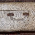 Vintage Suitcase Snake Skin Print Old Chic & Shabby Decor DIY Retro 30s 40s 50s