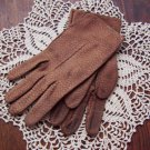 Vintage Leather Gloves 40s 50s Mad Men Romantic Prairie Country Re Enactor 6.75