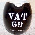 Hall China VAT 69 Promotional Vintage Jug Black White Ex Cond Breweriana Liqour
