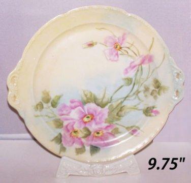 Plate Limoges France WG William Guerin Open Rose Old Fashioned Rose Vintage