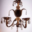 Mirror Crystals Candle Sconce Italian Florentine Hollywood Regency Romantic Chic