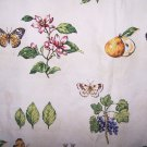Kingsway Cottage Notebook Design Fabric Butterflies Figs Flowers Berries 56 x100