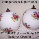 Glass Light Globes Shades Vintage Romantic Prairie Country Roses English Cottag
