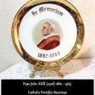 Pope John XXlll Plate 23rd 1882 1963 SABINS 22K Catholic Pontifex Maximus  RARE