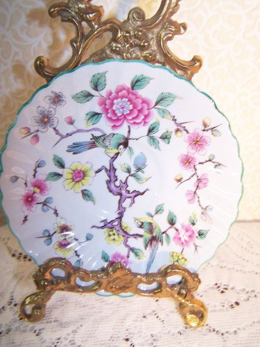 Rose Plate Floral Bird James Kent Old Foley Chinese England Romantic Chic 5.75""