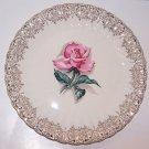 Rose Plate American Limoges Le Fluer Rouge Vintage Romantic Prairie Cottage Chic