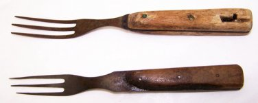 Civil War Forks Primitive 2 Antique Prairie Wild West Country ReEnacting Theatre