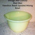 Hamilton Beach Mixing Bowl Custard Yelo Fenton Vintage Retro1940s 1Qt