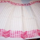 Apron Pink White Crochet 40s 50s Mad Men Romantic Prairie LARP Maid Fetish Costu