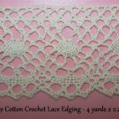 Lace Trim Cotton Crochet Vintage Homespun Suttler Civil War Re Enactor Costume