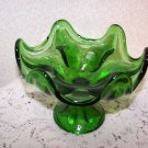Vintage Viking 6 Point Comporte Coompote Green Retro Mad Men Mid Century 60s 70s