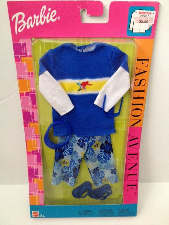 2002 Ken Fashion Avenue - Blue Beach Wear