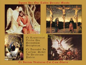 EASTER Card Latin/Art/Vntg/4X5 Christian Vntg Picture Prints Free SH-cont USA  $1.50  4x5