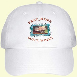 PADRE PIO Don't Worry Hat NEW Catholic Saint -  $19 + $4SH